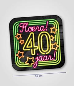 Neon huldeschild 40 jaar