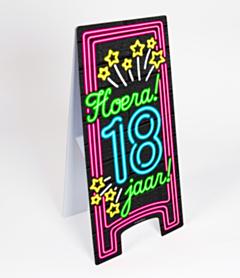 Neon Warning Sign 18 jaar