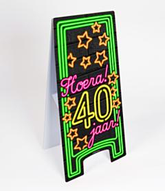 Neon Warning Sign 40 jaar