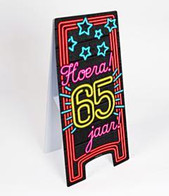 Neon Warning Sign 65 jaar