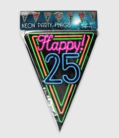 Neon vlaggenlijn - 25 jaar