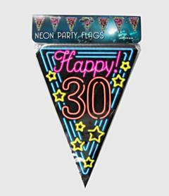 Neon vlaggenlijn - 30 jaar