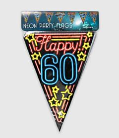 Neon vlaggenlijn - 60 jaar