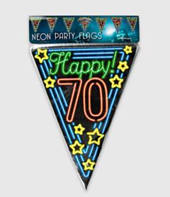 Neon vlaggenlijn - 70 jaar
