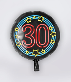 Neon Folieballon 30 jaar