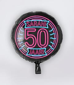 Neon Folieballon 50 jaar Sarah