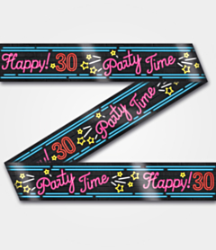 Neon Party tape 30 jaar
