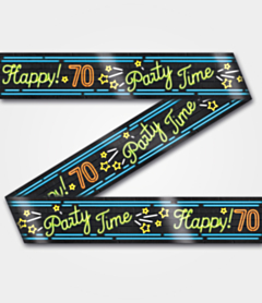 Neon Party tape 70 jaar