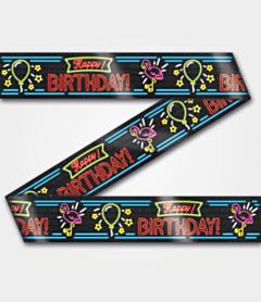 Neon Party tape Happy Birthday