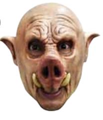 Chinless mask porky