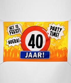 XXL Gevel vlag - 40 jaar