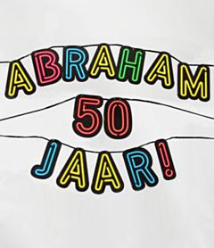 Neon slinger 50 jaar Abraham