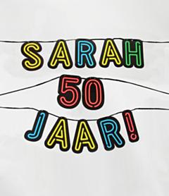 Neon slinger 50 jaar Sarah