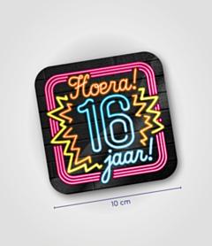 Neon onderzetters - 16 jaar