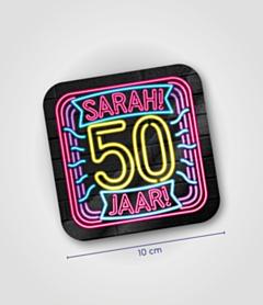 Neon onderzetters - Sarah