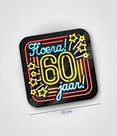 Neon onderzetters - 60 jaar