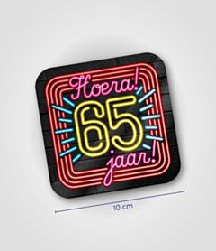 Neon onderzetters - 65 jaar