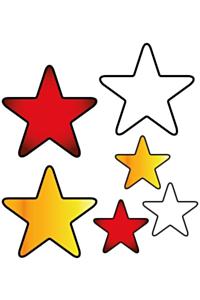 6 st. applicaties sterren Oeteldonk