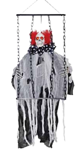 Hanging clown with chains