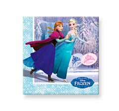 Servetten Frozen Ice Skating 33x33