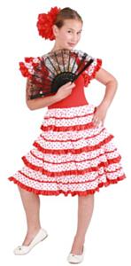 Spaanse jurk andalusie 8 jaar