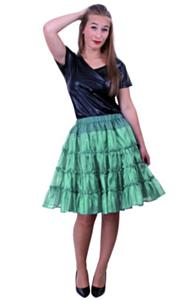 Petticoat 5 laags groen 40-42