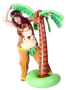 Funbroek crazy monkey pluche S-M
