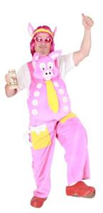 Funbroek crazy pig pluche L-XL
