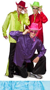 Ruches blouse fluor groen 54