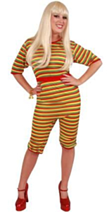 Dorus badpak rood/geel/groen lange mouw S-M