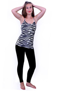 Topje zebraprint L-XL