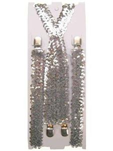 Bretel pailletten zilver