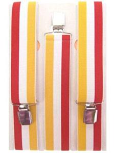 Bretel rood/wit/geel