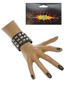 Punk armband 3 rijen nagels