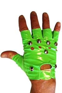 Punk handschoen fluor groen