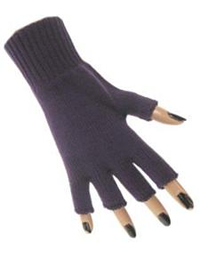Vingerloze handschoen paars