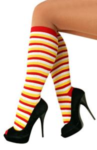 Doruskousen rood/wit/geel