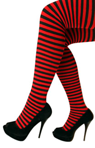 Panty streep rood/zwart