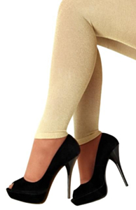 Legging lurex goud L/XL