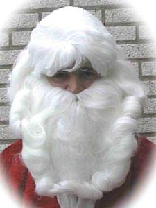 Kerstman haarstel pruik+baard+snor