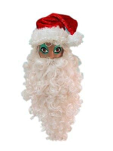 Kerstman baard/pruik set luxe