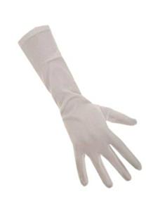 Handschoenen stretch wit luxe nylon M