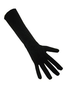 Handschoenen stretch zwart luxe nylon (Piet) XS