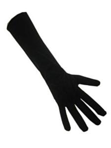 Handschoenen stretch zwart luxe nylon (Piet) M