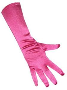 Handschoenen satijn stretch luxe 40 cm hard roze