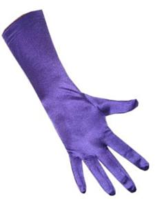 Handschoenen satijn stretch luxe 40 cm paars
