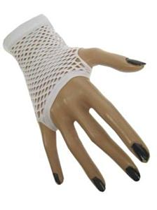 Nethandschoen kort vingerloos wit