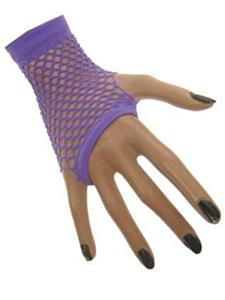 Nethandschoen kort vingerloos fluor paars