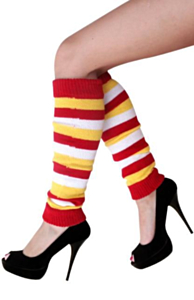 Beenwarmers rood/wit/geel