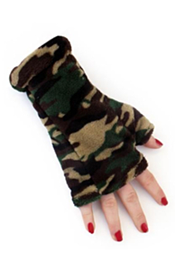 Softy gloves camouflage print